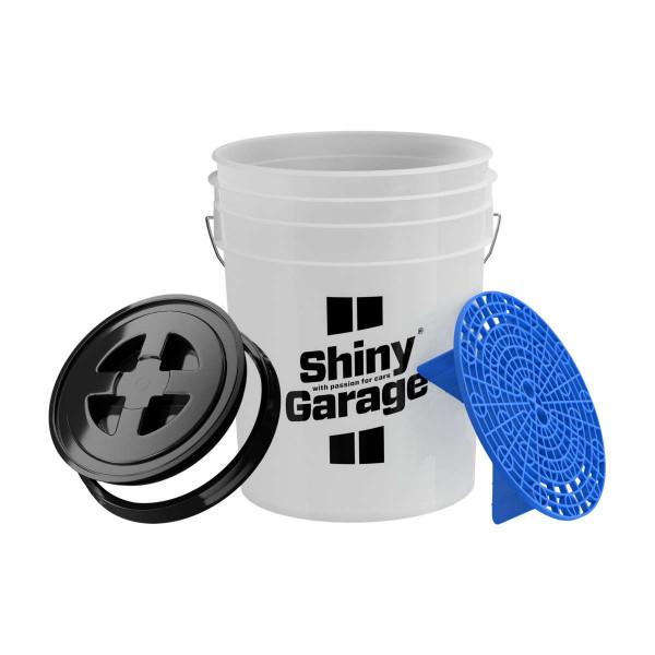 Shiny Garage Wascheimer 20L inkl. Schmutzsieb Blau, mit Deckel